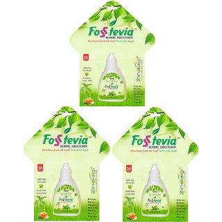 Zindagi Stevia Liquid - Sugarfree Stevia Drops - Natural Stevia Leaves Extract (Pack Of 3)