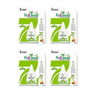 Zindagi Stevia Drops - Sugarfree Stevia Liquid - Natural Stevia Leaves Extract (Pack Of 4)
