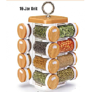 HARDI ENTERPRISE Kitchen Mate 16 Jar (Spice Rack)-JVS 101