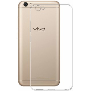VIVO V5S Soft Silicon Cases D  Y - Transparent