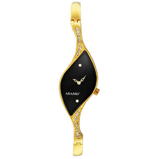 Adamo Analog Black Dial Women's Watch -9710YM02