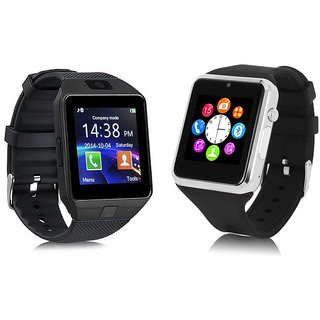 eac40cb5107d Buy Combo of 2 - DZ09 Black A1 Silver Bluetooth Smart Watch Touch Screen  with Camera SIM Card Online - Get 42% Off