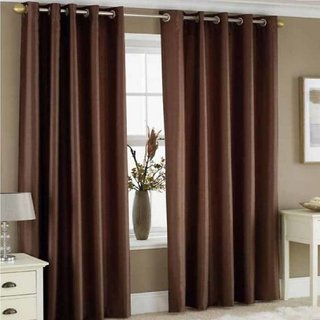 Cloud India 5Ft- Window Cutains Crush Plain Set of 2 Piece Polyster Living Room  Bed Room Curtains With Attractive Color