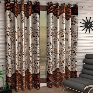 Cloud India 7Ft- Door Curtains Crush Panel Set of 2 Piece Polyster Living Room  Bed Room Curtains With Attractive Color