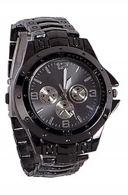 Divine All Black Chain Watch For Men For Boys