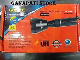 GDLITE RECHARGEABLE LED TORCH GD-8800 500 METER COVER