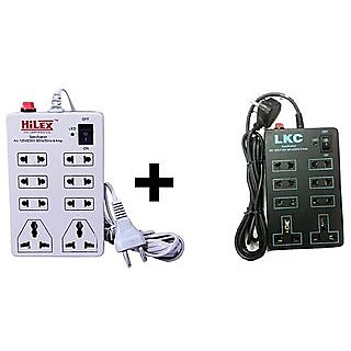 COMBO OFFER- BLACK AND WHITE EXTENTION BOARD-2-3PIN 6-2PIN SOCKET