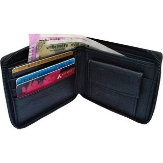 ROZVOLT MENS GIRLS BLACK ROUND CHAIN WALLET