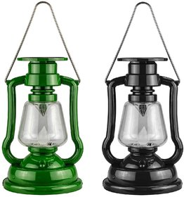 Plastic Solar Power LED Hurricane Lantern Light Lamp Flashlights Camping Outdoor