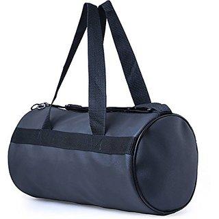 CP Bigbasket Black Leather Rite Gym Bag (20L)