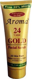 Aroma Natural Glow 24 Carat Gold Facial Scrub