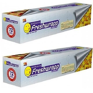 SM Hindalco Freshwrapp Aluminium foil 72 mtr - Pack of 2