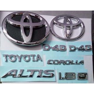 LOGO TOYOTA COROLLA ALTIS CAR DECAL MONOGRAM EMBLEM CHROME Family Pack