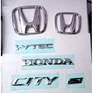 LOGO HONDA CITY IVTECH S CAR DECAL MONOGRAM EMBLEM CHROME Family Pack