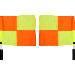 GSI Football Referee Linesman flags with Durable and soft grip handle for soccer Pack of 2