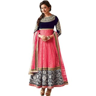 Florence Women's Pink Net Embroidered Salwar suit