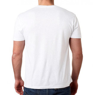 233aa91e86f1 HEYUZE 100% Cotton Half Sleeve Male Men Round Neck White T Shirt with Plain  White