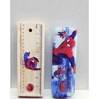 Pencil Box Combo, Spiderman Theme (with free pencil, eraser  sharpner)