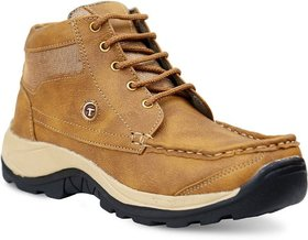 Aadi Men's Tan Synthetic Leather Outdoor Casual Shoes