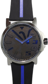 Casual Men's Wrist Watch with Black silicon strap