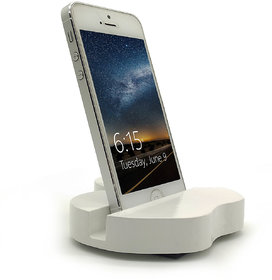 JaamsoRoyals Apple Design Mobile Phone Stand / Holder For Smartphone (White)