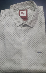 RED AND WHITE Men's Half Sleeve Casual Shirt (Apple Cut)