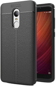 Auto Focus Soft TPU Back Case Cover For Redmi Note 4 - Black