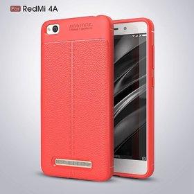 Redmi 4A Red Soft Silicon Flexible Auto Focus Back Cover