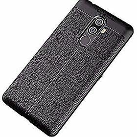 Soft Silicone TPU Flexible Auto Focus Back Case Cover For Lenovo K8 Note (Black)