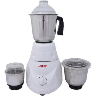 VS Star Line 500 W Mixer Grinder (White 3 Jars)