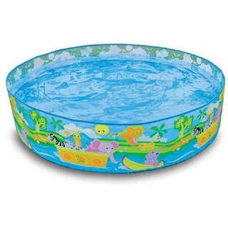 Indmart 5 Feet Swimming Pool (Multicolor) Requires No Air Portable Pool