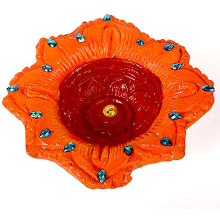 COLOURFUL EARTH BURN DIYA 04