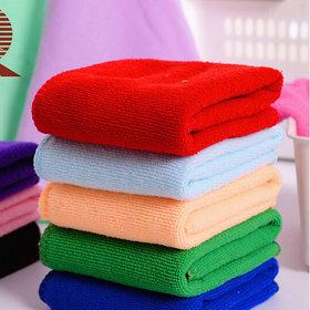 P.E.R.F.E.C.T Pure Cotton 5 Pcs Face towel Multicolor , ULTRA SOFT QUALITY - Handkerchief For Girls, Ladies Women