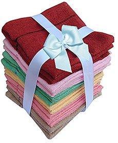 PRINCESS Home S.t.y.l.i.s.h New Pack Of 6 Face Towels Mulicolor PURE- cotton - SUPER - soft