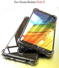 Redmi Note 5  -  Anti-Knock Design Shock Absorbent Bumper Corners Soft Silicone Transparent Back Cover for Redmi Note 5.