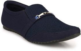 Groofer Men's Blue Party Wear Slip-on Casual Shoes