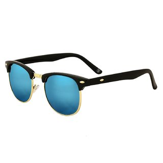 Code Yellow UV Protected Clubmaster Sunglasses For Men And Women