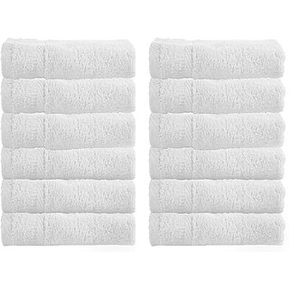 COTTON - KING Pure Organic Cotton Special Soft Smooth 12 pcs. Face Towel Set Treasure