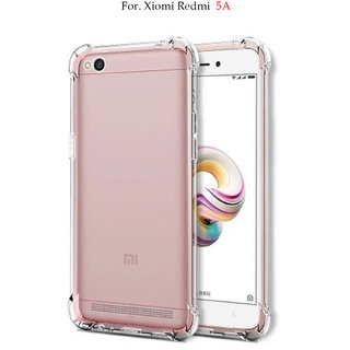 Redmi 5A -  Anti-Knock Design Shock Absorbent Bumper Corners Soft Silicone Transparent Back Cover.