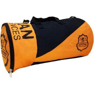 Buy Caris Spartan Print 18 Inch Orange Black With Shoe Compartment ... 076a3c6221734