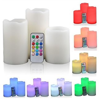 Shop N Save Luma Candles Real Wax Flameless Candles 3 Led Candles Plus Remote Control