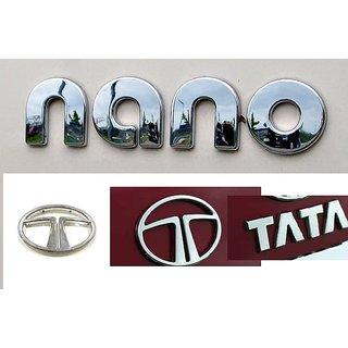 LOGO TATA NANO DECAL CAR MONOGRAM EMBLEM CHROME Family Pack