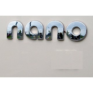 Logo Tata NANO Monogram Emblem Chrome Graphics Decals Monogram