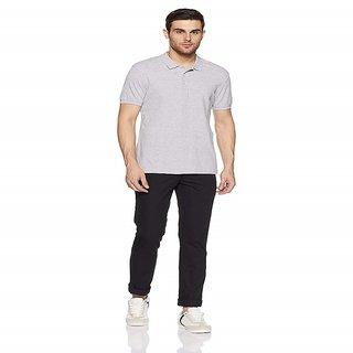 Dgnt Denim Mens Slim Fit Black Casual Trousers ( Vardhman Fabric)