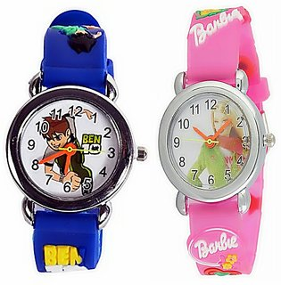 SONIXby Kingz Traders Round Dial Purple Rubber Quartz Kids watch