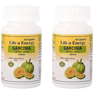 Life N Energy Pure Garcinia Extract 500 mg Fat Burner capsules 120 capsules 2 pack