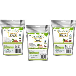Zindagi Stevia Powder - Sugarfree Stevia Sachets - Natural Stevia White Powder (Pack Of 3)