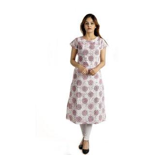 Alobha Pink Long Printed Kurtis For Woman
