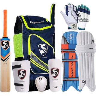 57f17a33b SG Full Cricket Kit with Ezeepak Bag Cricket Kit (Bat Size 5 (Age Group 10  - 12 Years))