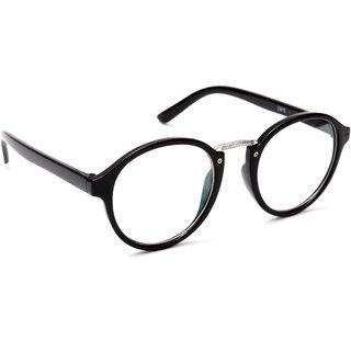 983253066403 TheWhoop Black Round Spectacle Frame Eye Glasses For Men Women Boys Girls  Transparent Nightwear Unisex Eyeglass.